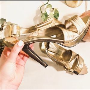NEW ASOS QUPID Gold Wrap Strappy Heel Sandals 10